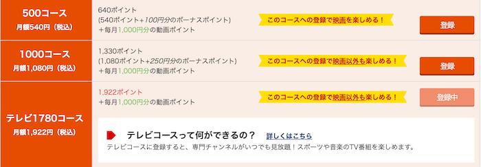 music.jp プレミアム会員 ポイントコース