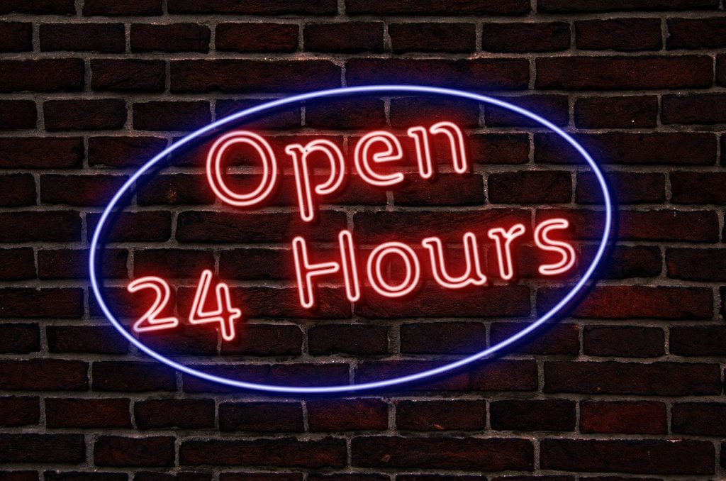 24時間営業 イメージ