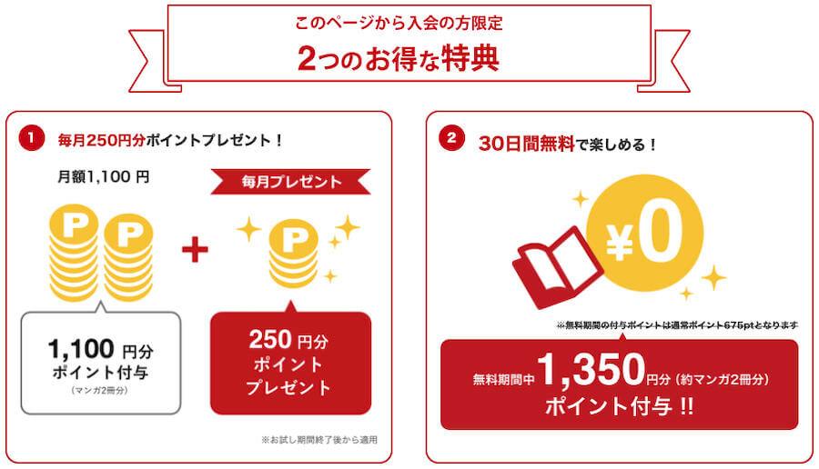 コミック.jp 1650ポイント