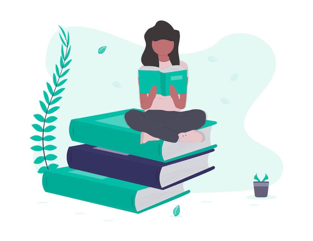 読書 たくさんの本 イメージ